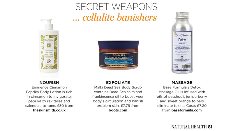 Cellulite banishers - Natural Health - April 2016