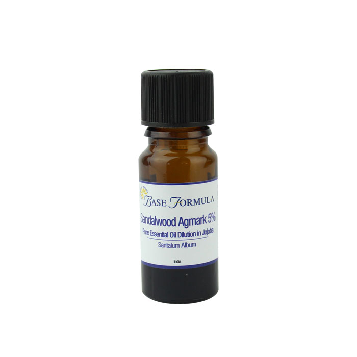 Sandalwood (Indian / Agmark) Dilution 5% in Jojoba (10ml)