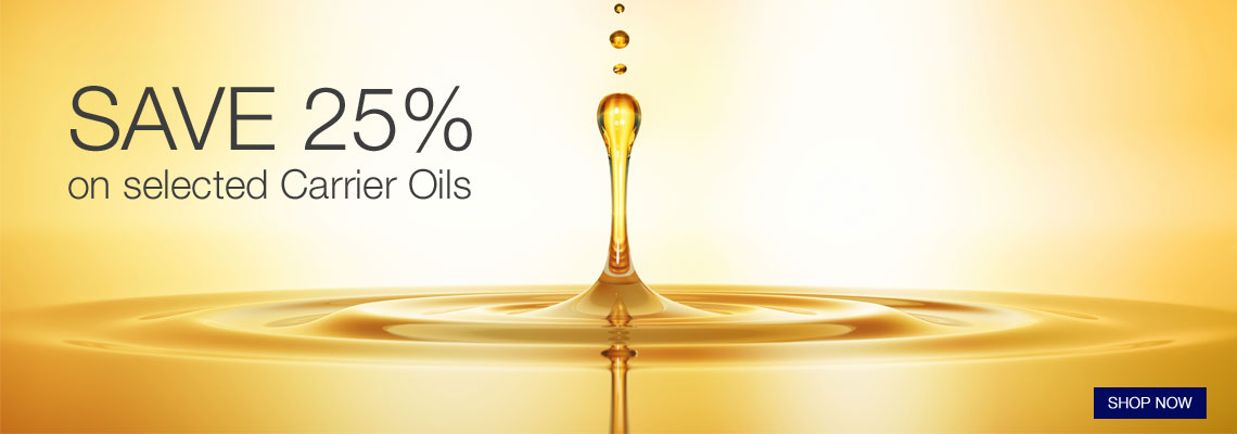 25% off selected carrier oils