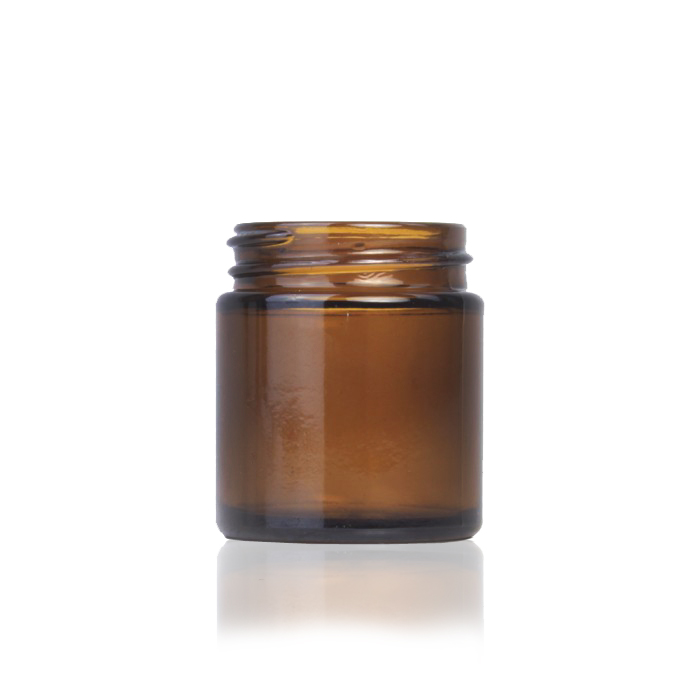 Amber Glass Cosmetic Jar 60ml (Lids EXCLUDED)