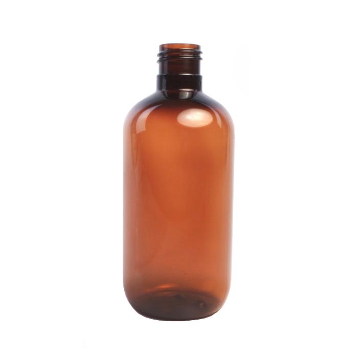 250ml Amber Melton Plastic Bottle (Caps EXCLUDED)