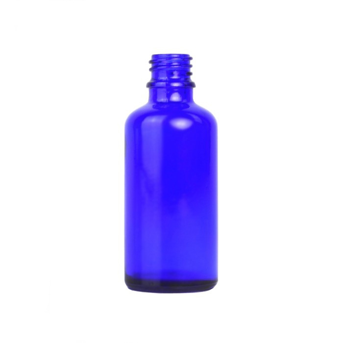 Blue Glass Dropper Bottle 100ml (Caps EXCLUDED)