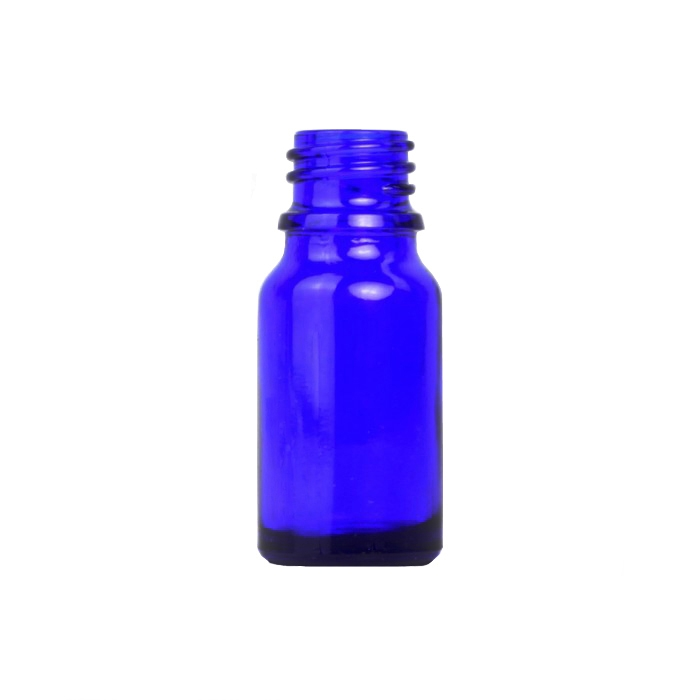 Blue Glass Dropper Bottle 10ml (Caps EXCLUDED)