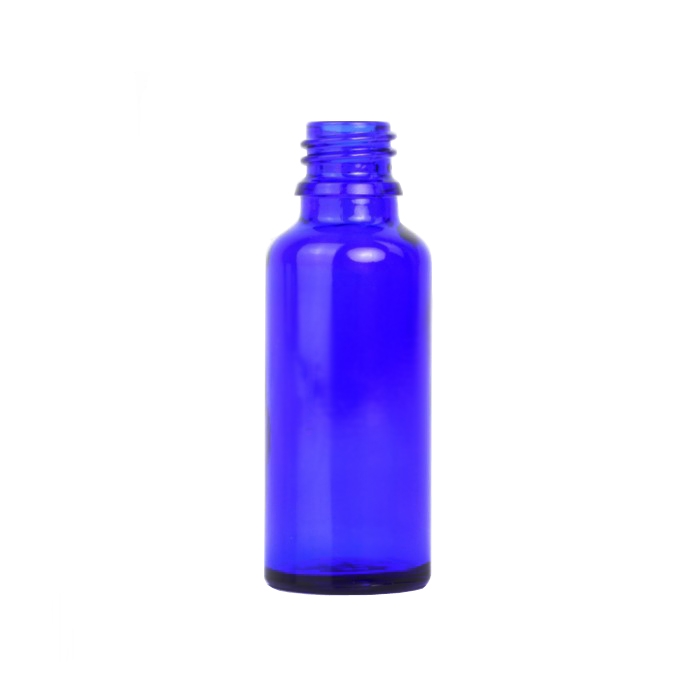 Blue Glass Dropper Bottle 30ml (Caps EXCLUDED)