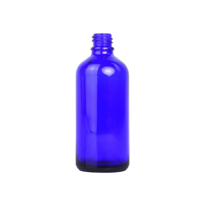Blue Glass Dropper Bottle 50ml (Caps EXCLUDED)