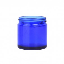 Blue Glass Cosmetic Jar 60ml (Lids EXCLUDED)