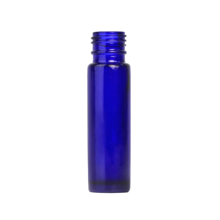 Blue Glass Rollette Bottle 10ml (Caps EXCLUDED)