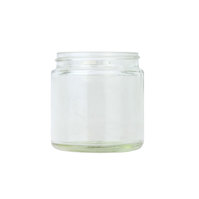 Clear Glass Cosmetic Jar 120ml (Lids EXCLUDED)