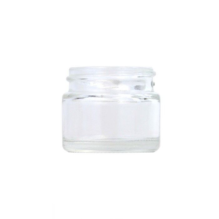 Clear Glass Cosmetic Jar 15ml (Lids EXCLUDED)