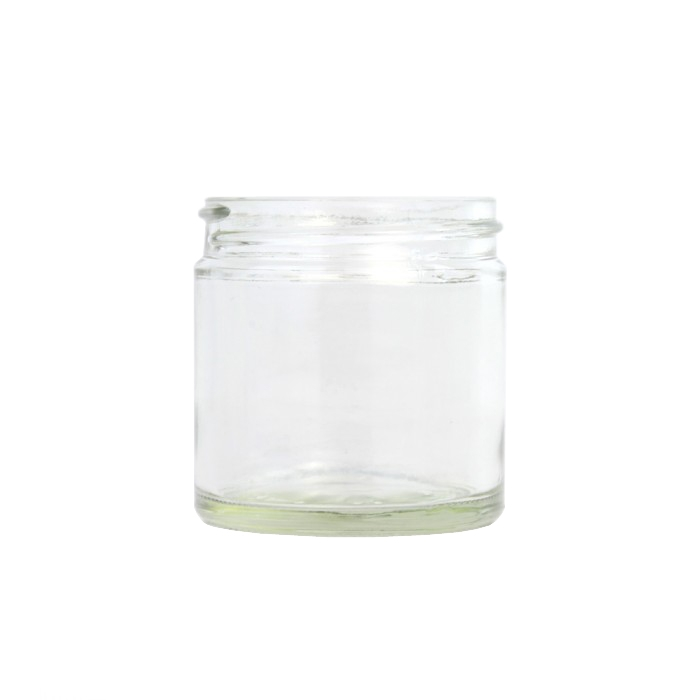 Clear Glass Cosmetic Jar 30ml (Lids EXCLUDED)