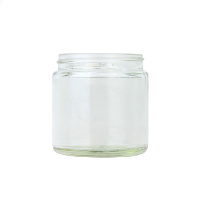 Clear Glass Cosmetic Jar 60ml (Lids EXCLUDED)