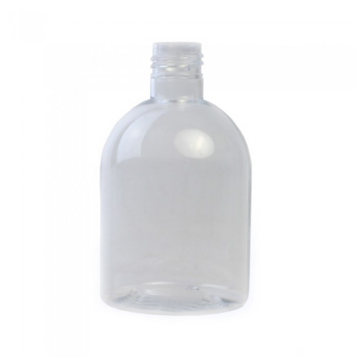 250ml Clear Melton Plastic Bottle DUMPY (Caps EXCLUDED)