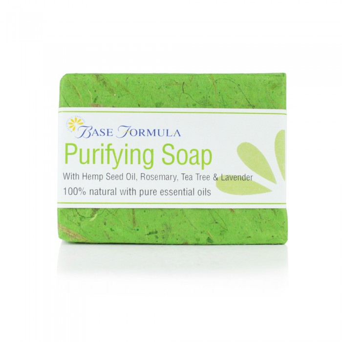 Purifying Soap with Hemp, Rosemary, & Tea Tree (100g)
