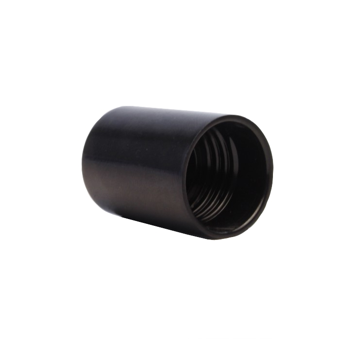 Tall Cap (Black) for Plastic Bottles (250ml)